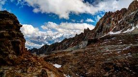 Schalbus Dag山,达吉斯坦,高加索俄罗斯全景  免版税图库摄影