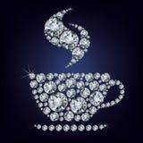 Schale bildete viele Diamanten Stockfotos