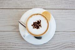 Schale Cappuccino Stockfoto