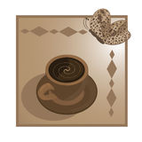 Schale coffe Stockbilder
