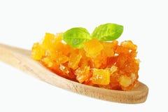 Schale der kandierten Zitrusfrucht Stockbild