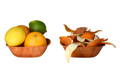 Schale der Zitrusfrucht Lizenzfreies Stockfoto