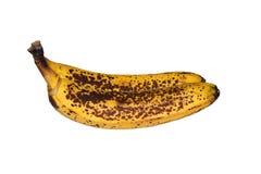 Schale des Bananenschwarzen flecks lokalisiert auf weißem Hintergrund Dieses ist Beschneidungspfad stockbilder