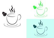 Schale des heißen Kaffeelogozeichens Lizenzfreie Stockbilder