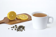 Schale eines grünen Tees Stockbild