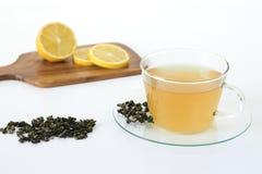 Schale eines grünen Tees Lizenzfreie Stockfotos