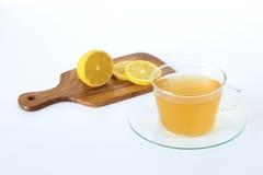 Schale eines Tees mit Zitrone Lizenzfreie Stockfotografie