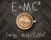 Schale Energiekaffee 2 stockfoto