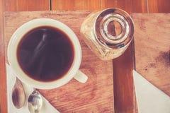 Schale Espresso Stockbild
