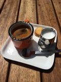 Schale Espresso Stockfotos