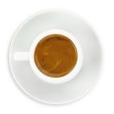Schale Espressokaffee Lizenzfreie Stockfotografie