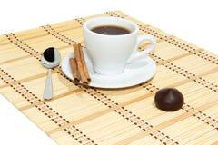 Schale Espressokaffee Lizenzfreie Stockfotos