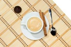 Schale Espressokaffee Stockfoto