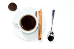 Schale Espressokaffee Stockbild