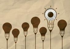 Schale frischer Kaffee 3d mit Uhrzeichen auf zerknittert bereiten Papier auf Lizenzfreie Stockfotos