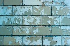 Schale gemalte blaue Fliesen auf dem Sockel Stockfotografie