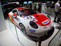 Schale GT3 991 Porsches 911 in Genf Lizenzfreies Stockbild