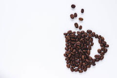 Schale hergestellt von coffe Bohnen Lizenzfreies Stockbild