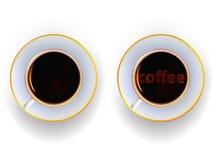 Schale mit einem Getränk des Kaffees Stockfotos