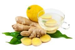 Schale mit Ginger Tea Lizenzfreie Stockfotos