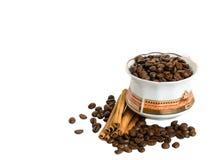 Schale mit Kaffee Stockbild
