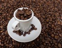Schale mit Kaffeebohnen Lizenzfreie Stockfotografie