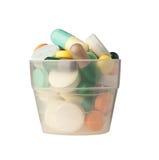 Schale Pillen lizenzfreie stockbilder
