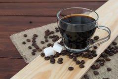 Schale schwarzer Kaffee stockbilder