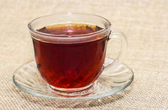 Schale schwarzer Tee Stockfoto