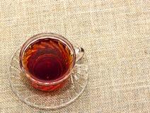 Schale schwarzer Tee Stockbilder