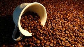 Schale und Kaffeebohnen Lizenzfreie Stockfotografie