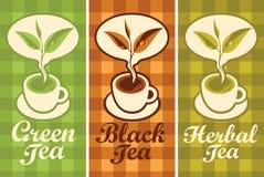 Schale unterschiedlicher Tee Stockfoto