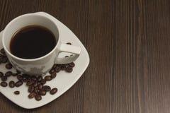 Schale schwarzer Kaffee Stockfotografie