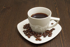 Schale schwarzer Kaffee Lizenzfreie Stockfotos