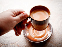 Schale weg vom Kaffee. Lizenzfreie Stockbilder