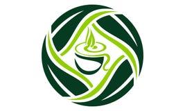 Schalen-Blatt Logo Design Template Vector Stockfotos