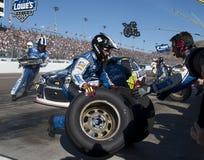 Schalen-Fahrer Jimmie Johnson Pitstop NASCAR Sprint Lizenzfreies Stockfoto