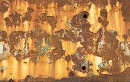 Schalen-Farbe und Rusty Metal Stockfoto