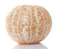 Schalen-Faser-Orange im weißen Hintergrund Stockfotografie