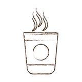 schalen-Kaffee Portable des Skizzenabgehobenen betrages Plastik Lizenzfreie Stockbilder