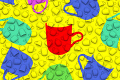 Schalen masern in der unterschiedlichen Illustration des Formhintergrundes 3D Lizenzfreies Stockfoto