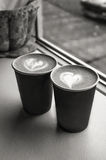 Schalen mit Kaffee Lizenzfreie Stockfotos