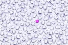 Schalen mit rosa Farbmitteschale auf Illustration des Grayscalehintergrundes 3D Lizenzfreie Stockfotografie