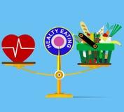 schalen Selectie van gezond voedsel vector illustratie
