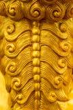 Schalen van het draakstandbeeld Gipspleisteroppervlakte van dier Stock Afbeeldingen