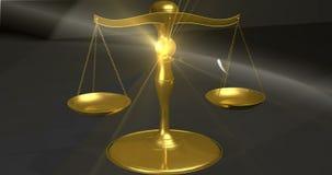 Schalen van rechtvaardigheid stock videobeelden