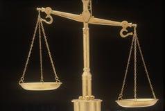 Schalen van Rechtvaardigheid, die de wettelijke systemen en de hoven van Verenigde Staten vertegenwoordigen stock fotografie