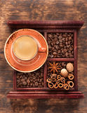 Schalenespresso Stockfotos