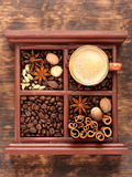 Schalenespresso Stockbilder