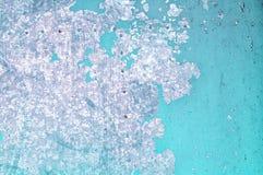 Schalenfarbe auf alter Metalloberfläche - strukturierter Hintergrund Lizenzfreie Stockbilder
